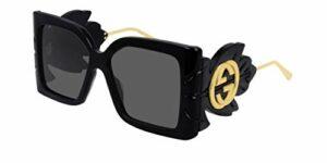 Gucci GG0535S-001 Lunettes de Soleil, Noir, 56.0 Femme