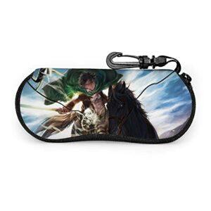 KZLXCH Étuis à lunettes Attack On Titan Sacs De Lunettes De Soleil Haut De Gamme Pour Hommes Femmes Étui à lunettes portable souple