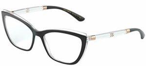 Lunettes de Vue Dolce & Gabbana DOUBLE LINE DG 5054 Black Crystal 54/17/145 femme