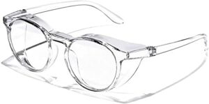 Lvcuyy eye goggles Pollen Safety Glasses Anti-pollen and Hay Fever Goggles Anti-fog Protection Protective Clear Goggles Safety Goggles for womens Mens-Clear