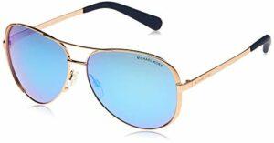 Michael Kors Chelsea 100325 59 Montures de Lunettes, Or (Rose Gold/Blue Mirror), Femme