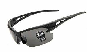 (monture noire – verres gris) lunettes de soleil – sport – hommes – course à pied – cyclisme – ski – polarized uv400
