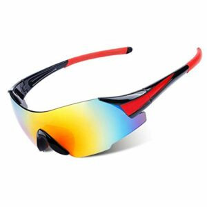 Moonlight Star Lunettes de Ski de Sport de Ski de Ski de Snowboard de Snowboard de Snowboard pour Hommes Femmes Lunettes d'hiver UV400 Lunettes de Soleil Pêche Cyclisme Cyclisme Goggle