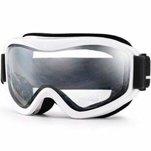 Moonlight Star Lunettes de Ski Professionnel Double Couches lentilles Anti-Brouillard UV400 Ski Lunettes de Ski Ski Hommes Femmes Snow Goggles (Color : C3 White Clear)