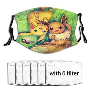 Pokémon Pikachu Masque de protection UV pour la pêche, la chasse, la course à pied, le ski