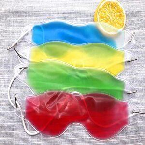 PPuujia Masque de sommeil – Sac de glace pour la sieste – Masque de sommeil – Masque pour les yeux – Soulage la fatigue – Soins de santé – Couleur : jaune