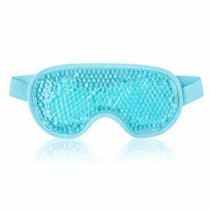 PPuujia Masque en gel réutilisable pour les yeux – Pour thérapie par le chaud et le froid – Relaxant – Beauté – Masque pour les yeux – Masque de sommeil – Masque de sommeil – Couleur : bleu