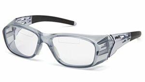 Pyramex Safety Sg9810tr20Emerge Plus Readers Lunettes de sécurité clair, Dessus lecteur double foyer lentille + 2.0