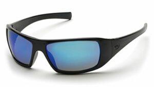 Pyramex SB5665D Lot de 2 paires de lunettes de sécurité Goliath (verres miroir bleu glacé/cadre noir)