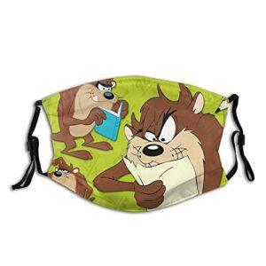 Tasmanian Devil Looney Masque unisexe lavable et réutilisable, résistant au soleil et à la poussière, pour l'équitation, la pêche, le ski