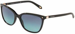Tiffany & Co. Lunettes de Soleil CONCERTO TF 4105HB Black/Blue Shaded 55/17/140 femme