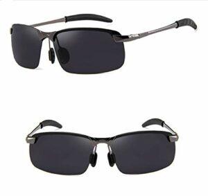 Ubrand Lunettes de Soleil polarisées Hommes Conduite pêche – UV400 Gun Metal Frame Grey TAC Lens 3043 Adulte Protection des Yeux Décoration