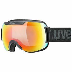 uvex downhill 2000 V, lunettes de ski Mixte Adulte, Noir (Black Mat/Rainbow-Clear), Taille Unique