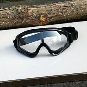 XKMY Lunettes de ski en plein air – Masque de snowboard, motoneige, motocross, lunettes de soleil de patinage – Coupe-vent, anti-poussière – Couleur : blanc