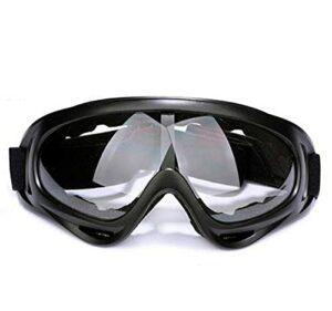 XKMY Lunettes de ski en plein air – Masque de snowboard, motoneige, motocross, lunettes de soleil de patinage – Coupe-vent, anti-poussière – Couleur : transparent