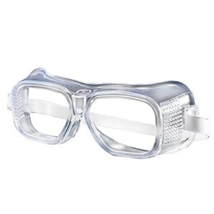 Adesign Goggle Heavy Duty Industri Industri Industrial Splash Splash Sécurité Lunettes de sécurité, Verres |Crystal Clear, conception anti-brouillard, résistance à fort impact (2 pack) Haute définitio