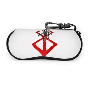 Anime Berserk Boîte à lunettes pouvant être utilisée pour la protection et s'adapte à la plupart des tailles de lunettes