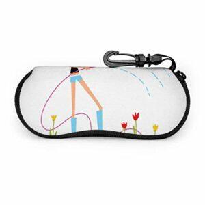 AOOEDM Étui à lunettes de soleil enfant canneberge rouge vif à la mode étui à lunettes souple pour hommes léger Portable en néoprène fermeture éclair étui souple étui à lunettes mince