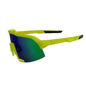 DBMGB Lunettes de Soleil Sports polarisés, Lunettes Coupe-Vent, pour Hommes Femmes Cyclisme en Cours de pêche Golf de pêche au Golf de Baseball,Vert