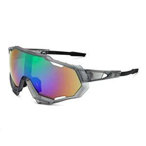 FDDFG Lunettes de vélo pour Hommes avec lentilles polarisées, Lunettes de Soleil à vélo, Lunettes de Sport Ultra-légères, Lunettes de Soleil à vélos Anti-Ultraviolet (Color : 06, Size : 13.5x13x5cm)