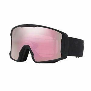 FSJKZX Lunettes De Ski Sphériques Grand Champ De Vue De La Double Couche Anti-Brouillard Anti-Reflets Anti-Reflets Ski 100% UV400 Protection Résistance Aux Chocs (Color : Black)