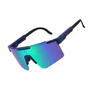 Gosunfly Lunettes de cyclisme anti-UV400 lunettes de soleil à grande monture lentille colorée lunettes de sports de plein air