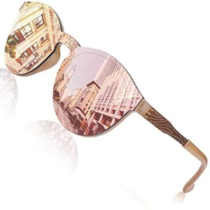 GQUEEN Lunettes de soleil Femme Futuriste bouclier de Miroir sans jante Lens MEO5
