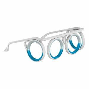 HEXLONG Lunettes de protection pliables pour enfants et adultes, sans objectif, lunettes anti-maladie pour voiture, bateau, avion