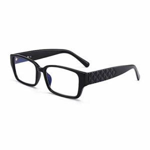 JM Rectangle lunettes de lecture bleu clair bloquant les lecteurs d'ordinateur pour femmes hommes lunettes anti-éblouissement noir +2.5