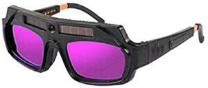 JZLMF Masque de soudage, lunettes de soudage, lunettes de soudage, lunettes de protection, verres incurvés résistants aux chocs.