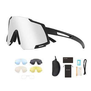 Lunettes de cyclisme polarisées UV400 avec verres de rechange