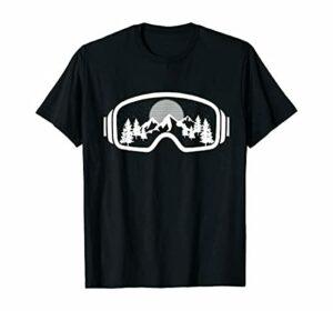 MAFUL Mountain Winte Ski Snowboard Goggles Skiing Snow r Gift T-Shirt Black