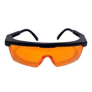 MARSPOWER Orange Protective Glasses Beauty Protective Glasses Blue-Violet Light Protective Glasses Professional UV Safety Glasses – Black+Orange