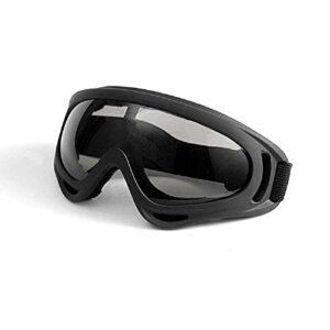 NC Lunettes De Ski De Fond Lunettes Anti-poussière Et Anti-éclaboussures Lunettes De Moto Transfrontalière Masque De Ski Masque Film Gris encadré Noir