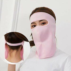 NUYI Masque Anti-Poussière, Crème Solaire, Protège-Cou, Section Mince, Masque Anti-Ultraviolet, Masque Respirant D'extérieur Respirant, Unisexe,Rose