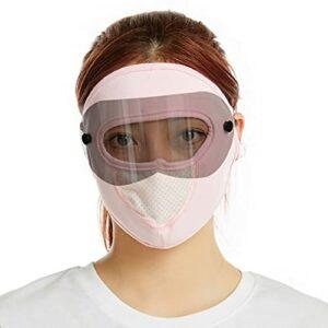 #N/V Masque Lunettes de sécurité Lunettes-masque Des lunettes de soleil Ecran solaire Ice Silk écran facial 1pc Goggles Sunglasses Ice Silk Sunscreen Windproof Dustproof Face Mask (rose)