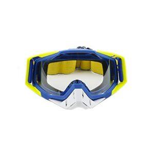 PJRYC Goggles de Motocross Casque de Moto Verres de Cyclisme Vélo de saleté Vélo Lunettes de Soleil Sécurité Goggles Ski Masque (Color : Transparent Yellow)