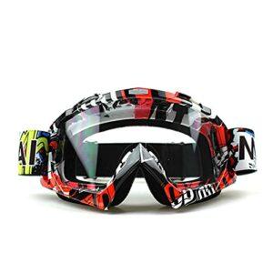 PJRYC Lunettes de Protection de la Moto en Plein air Cyclisme de Ski de Ski Hors Route Dirt Vélo Vike Verres (Color : Transparent U827)