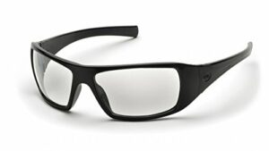 Pyramex SB5610D Lot de 2 paires de lunettes de sécurité Goliath avec verres transparents/monture noire