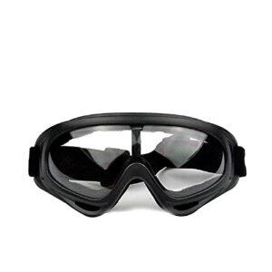 QQY Lunettes de neige unisexes coupe-vent 100 % protection UV, pour cyclisme, moto, motoneige, ski, sports de plein air (transparent)