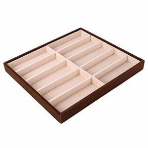 Rodi Étui de Rangement pour Lunettes, boîte d'affichage pour Lunettes, 10 grilles durables pour Hommes et Femmes
