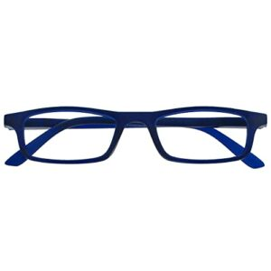 The Reading Glasses Lunettes de Lecture Matt Bleu Marine Léger Lecteurs Designer Style Hommes Femmes Charnières Ressort R17-3 +3,50