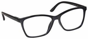 The Reading Glasses Lunettes de Lecture Noir Lecteurs Grand Designer Style Hommes Charnières Ressort R51-1 +2,50