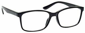 The Reading Glasses Lunettes de Lecture Noir Lecteurs Grand Designer Style Hommes R83-1 +2,50