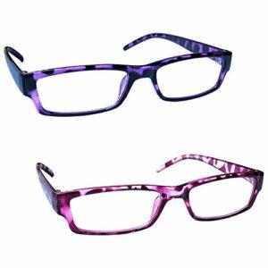 The Reading Glasses Lunettes de Lecture Pourpre & Rose Écaille Léger Lecteurs Valeur Set de 2 Hommes Femmes RR32-54 +2,00