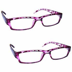 The Reading Glasses Lunettes de Lecture Rose Écaille Léger Confortable Lecteurs Valeur Set de 2 Hommes Femmes RR32-4 +2,00