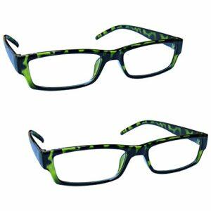 The Reading Glasses Lunettes de Lecture Vert Écaille Léger Confortable Lecteurs Valeur Set de 2 Hommes Femmes RR32-6 +3,50