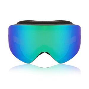 Tmpty Lunettes de ski anti-buée et anti-UV, verres magnétiques amovibles (couleur : vert, taille : 20 cm)