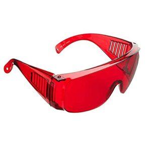 UKKD 2pcs Verres de sécurité, lentille teintée enveloppante, Peut être porté comme des Lunettes de Protection pour Le Travail et Le Sport, la Protection des Chocs, la Fatigue des Yeux réduite Unisexe
