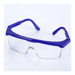 UKKD Lunettes de Protection avec Coupe Universelle, Lunettes de sécurité avec des lentilles revêtues de Protection Anti-Rayures claires, sans antibrouillard, Lunettes de Protection pour la Protection